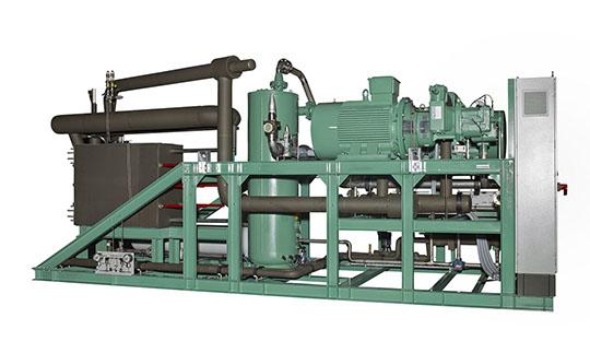 Drei der leistungsgeregelten, luftgekühlten, einstufigen Ammoniakkälteanlagen kommen bei Lindt & Sprüngli zum Einsatz