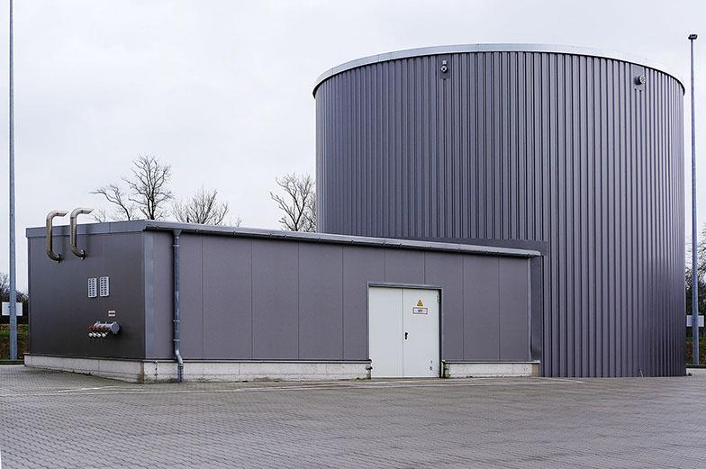Sprinklerwassertank/Pufferspeicher für Wärmerückgewinnung