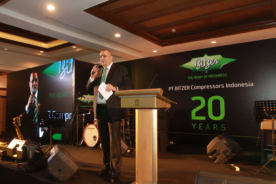 Luca Bernini, Managing Director of Sales and Marketing of BITZER Refrigeration Asia and PT BITZER Compressors Indonesia, talked about the past years with pride