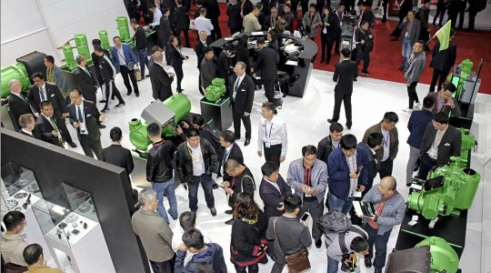 Many visitors in front of BITZER Products at the China Refrigeration 2018
