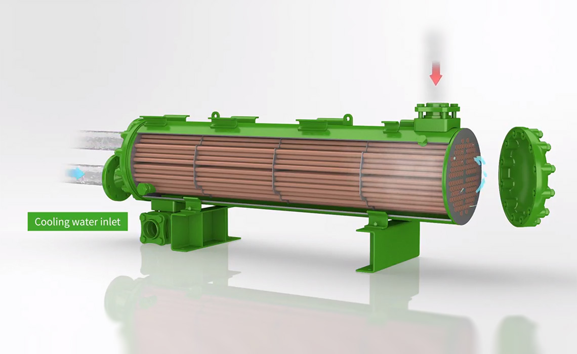 Picture of the BITZER HEXPV heat exchanger