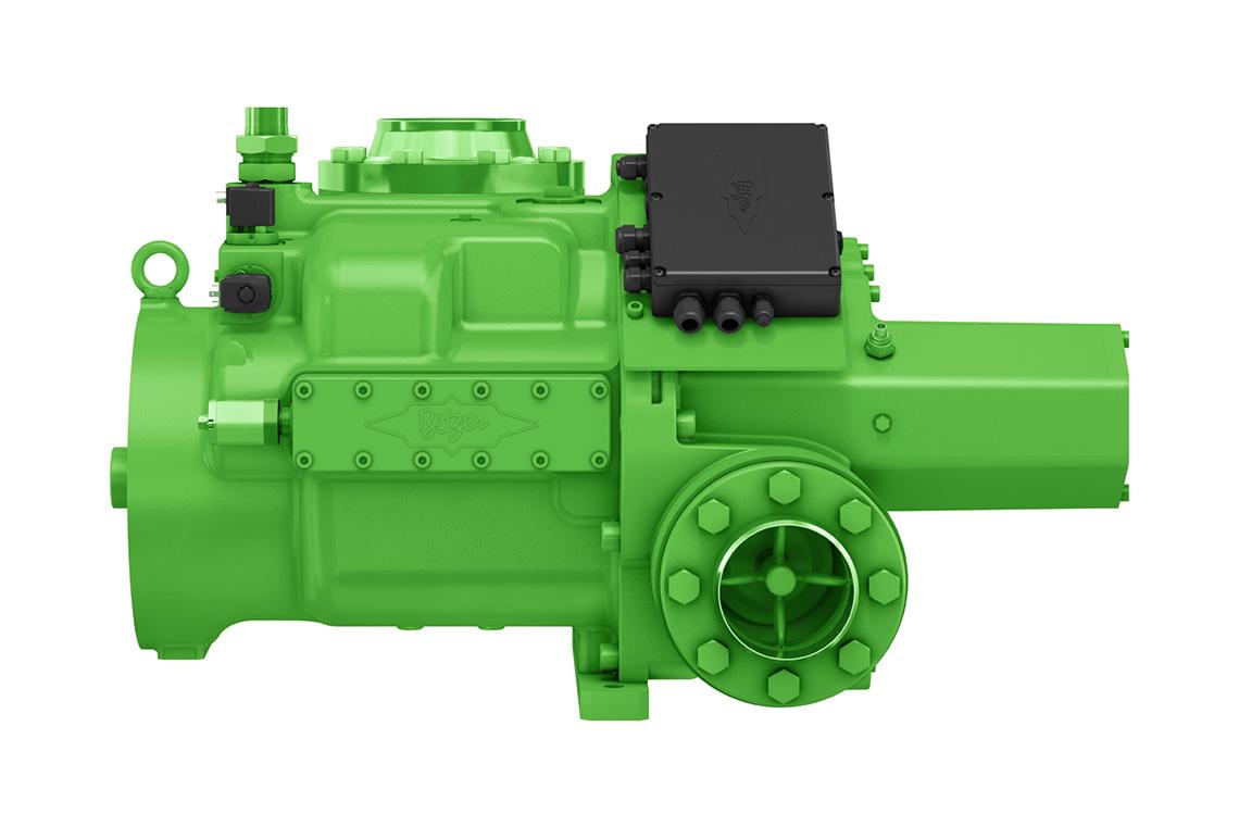 Die BITZER OS.A95 Schraubenverdichter mit Ammoniak-Kältemittel mit niedrigem GWP-Wert