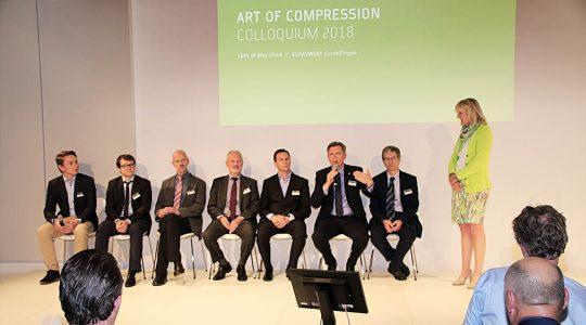 Die Redner des internationalen Art of Compression Kolloquiums im SCHAUWERK Sindelfingen