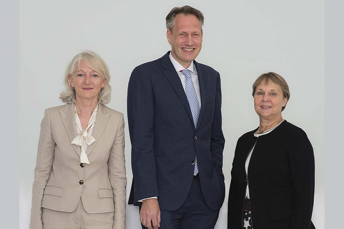 肖夫勒基金会管理委员会与 Barbara Bergmann、Ingo Smit 和 Ingrid Bossert-Spiegelhalder